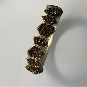 BCBGeneration | Gold-Tone & Brown Druzy Bracelet